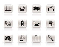 Simple Road, navigation and travel icons - vector. Icon set Royalty Free Stock Photos