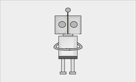 Simple robot Royalty Free Stock Photography