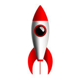 Simple Rocket. Isolated with white background Royalty Free Stock Images