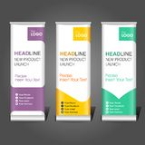Simple roll banner business stock image