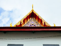 Simple roof top of Wat Ratchabopit Royalty Free Stock Image