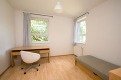 Simple room. Picture of a simple empty room Stock Photos
