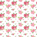 Simple rose seamless pattern.  Royalty Free Stock Photography