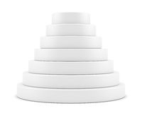 Simple round pyramid display Royalty Free Stock Photos