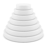Simple round pyramid display Royalty Free Stock Image