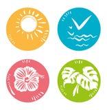Simple round symbols nature. Stock Photo