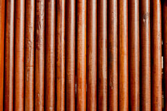 Simple round teak wood wall Royalty Free Stock Photo