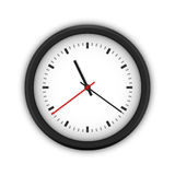 Simple round wall clock Stock Photography