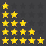 Simple rounded star rating. With outlines makes the stars pop out from background. Vector illustration EPS10 Stock Photo