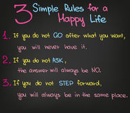 3 Simple Rules in Life Royalty Free Stock Image