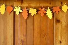 Simple, rustic country style Fall Thanksgiving home decorations paper