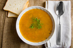 A simple rustic pea soup Royalty Free Stock Photo