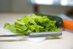 Simple Salad Makings Royalty Free Stock Photos