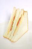Simple Sandwich with Bright Vi. Simple sandwich with bright colorful vegetable filling royalty free stock photography