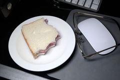 Simple sandwich. Stock Image