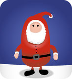 Simple Santa Christmas Button Cartoon Illustration Stock Images