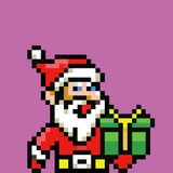 Simple santa claus avatar - retro pixel illustration. Simple santa claus avatar - retro pixel art vector illustration vector illustration