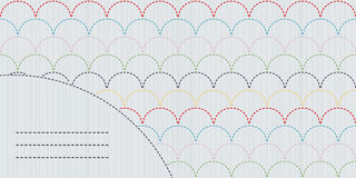 Simple sashiko ornament with copy space for text. Royalty Free Stock Photography