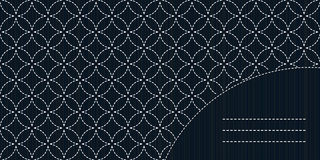 Simple sashiko ornament with copy space for text. Royalty Free Stock Images