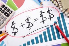 Savings plan, growth formula, retirement planning Royalty Free Stock Photos