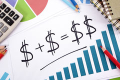 Savings investment growth plan formula Royalty Free Stock Photos