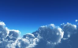 Simple scene with clouds Royalty Free Stock Photography