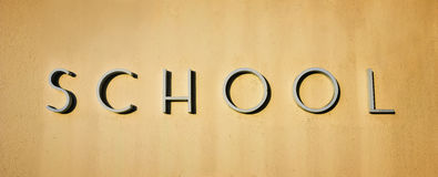 Simple School Sign Stock Images