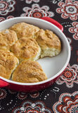 Simple scones in the baking dish Stock Image