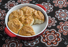 Simple scones in the baking dish Stock Photos