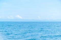 Simple sea and blue sky Stock Photos