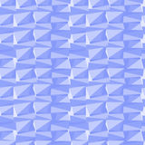 Simple seamless abstract blue geometric background. Of different triangles stock illustration