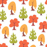 Simple seamless colorful trees pattern Royalty Free Stock Image