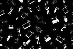 Simple seamless doodle Background - Telecommunication Signal Royalty Free Stock Photo
