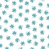 Simple seamless floral pattern stock illustration