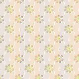 Simple seamless floral pattern background Stock Image