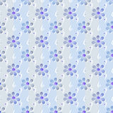 Simple seamless floral pattern background Royalty Free Stock Photos