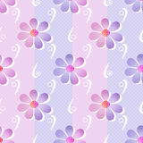 Simple seamless floral pattern background Royalty Free Stock Photo
