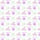 Simple seamless floral pattern on white Stock Photography