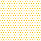 Simple seamless gold polka dot background, vector pattern Stock Photo