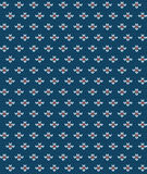 Simple seamless knitting blue flower pattern. Vector background Stock Photos