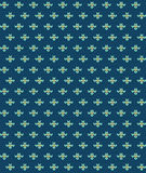 Simple seamless knitting blue flower pattern. Vector background Royalty Free Stock Image