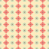 Simple seamless minimalistic floral pattern Royalty Free Stock Photos