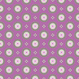 Simple seamless minimalistic floral pattern Royalty Free Stock Image