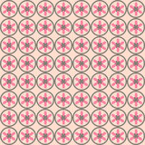 Simple seamless minimalistic floral pattern Royalty Free Stock Photography