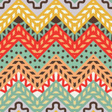 Simple seamless modern chevron zig zag pattern. Vector background Stock Images