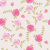 Simple seamless natural patterns. Graphic print. Small floral pattern Stock Photography