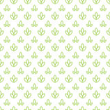Simple seamless organic wallpaper with a pattern of nature green leaf in a linear, minimal style. Good for nature Royalty Free Stock Photos