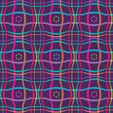 Simple Seamless Ornamental Pattern with Geometric Design Stock Photos