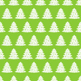 Simple seamless pattern background with Christmas trees Stock Photos