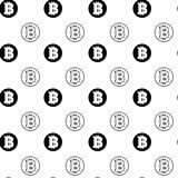 Simple Seamless Pattern Bitcoins Signs On White Background  Stock Photo